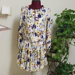 Banana Republic Long Sleeve Floral Dress Size XS